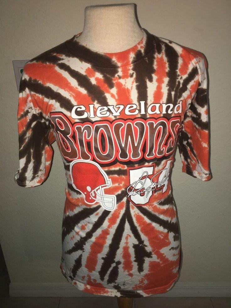 Vintage 90's Cleveland Browns #54 Chris Spielman Tie Dye T Shirt XL Rare NFL  #Miro #GraphicTee