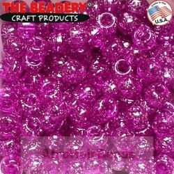 The Beadery HaarKralen 9x6mm Glitter Amethist