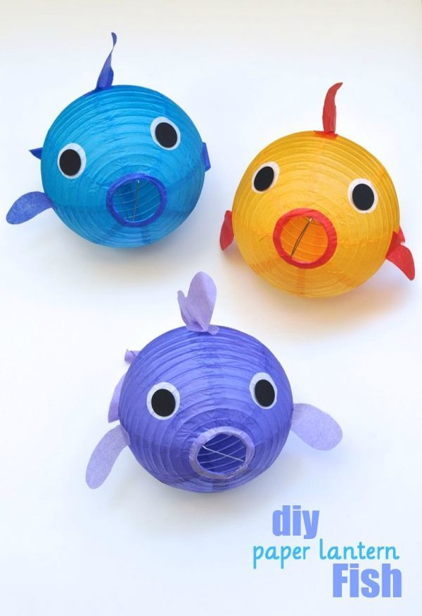 Paper Lantern Fish DIY Craft Tutorial- Perfect decoration idea for an under the sea party