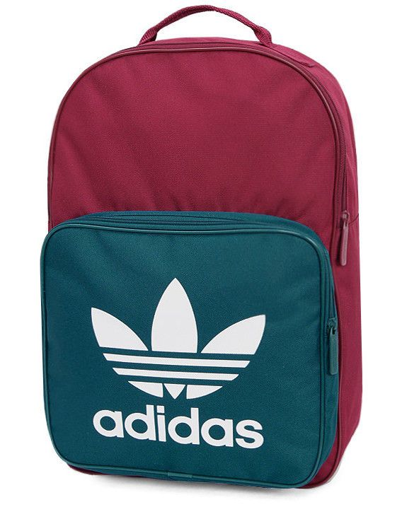 19495674056 adidas Classic Trefoil Backpack Green Wine School University Bag Rucksack  CD6065  adidas  Backpacks