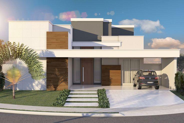 Construindo minha casa clean projeto da minha fachada com muros e - Fachada Residencial Diurna Fachada Pinterest