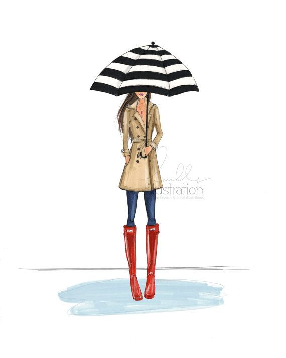 Welly Weather Print by HNIllustration on Etsy