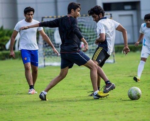 DSKIC Pune - Freshers Vs. Seniors – Friendly Matches '15-  football_match