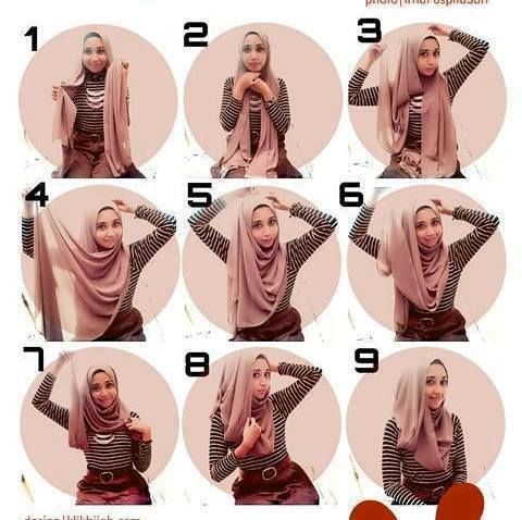 Tutorial Hijab Modern . so simple , but beautifull