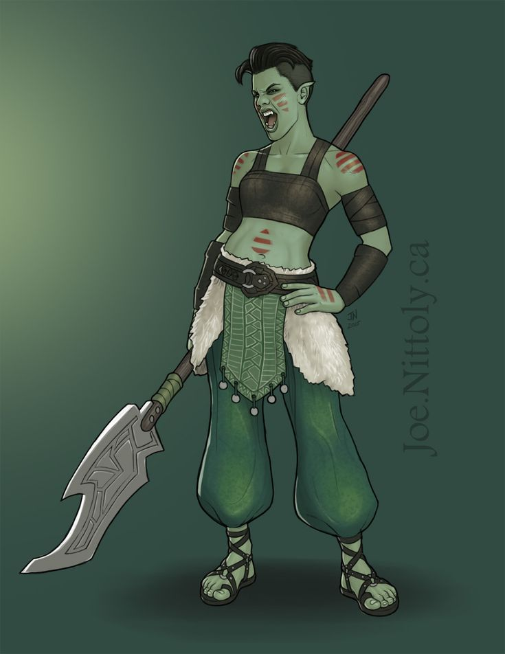"Can I just be her?  ""Kaida San, Half-Orc Barbarian/Druid A more complete drawing of another NPC, this one a female half-orc barbarian/druid who serves a druidic order, though with considerably more gleeful..."