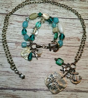 Dreaming of the Sea necklace and bracelet
