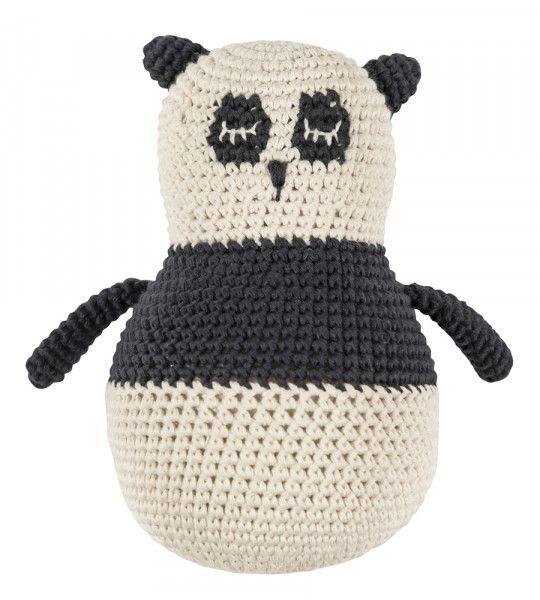 Sebra Stehaufmännchen Panda (gehäkelt)