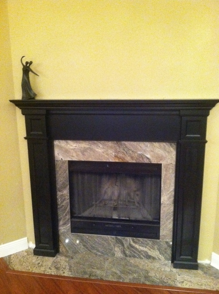 Had a 1970's river rock fireplace. Wanted to have a much more modern look.Rocks Fireplaces