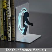 This is just too cool. Portal bookends. I don't need to be a child to get these...right?