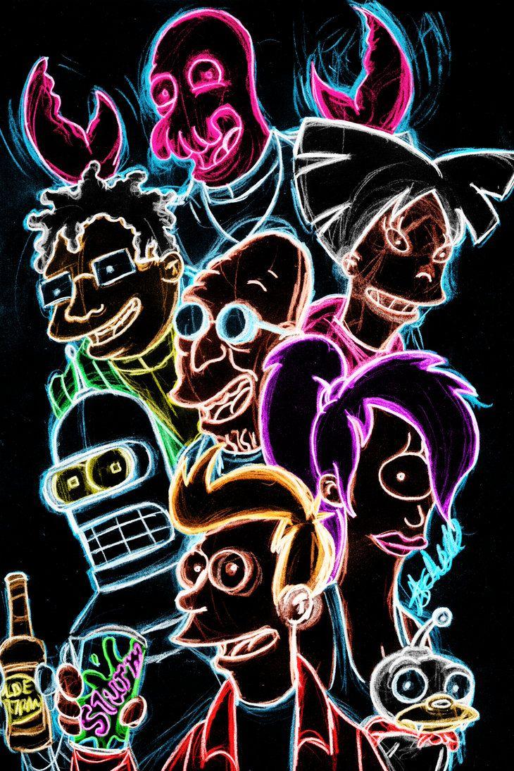 "More #Futurama art? why not ""Futurama Neon"" by AlanSchell"