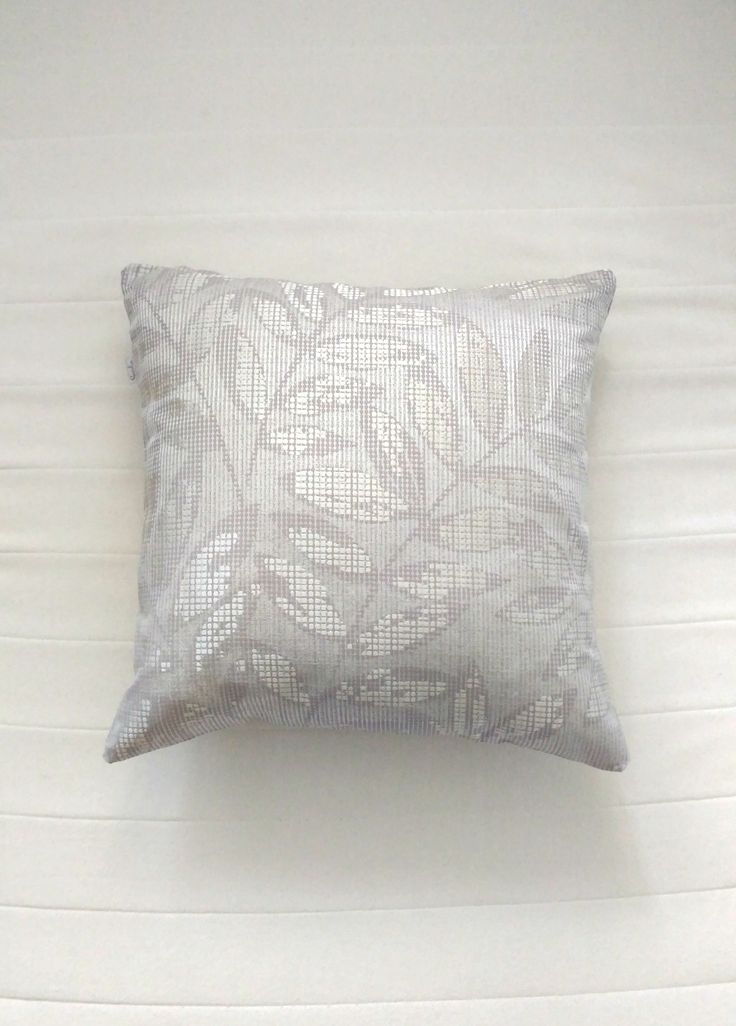 Silvery leaves luxury pillow. Scandinavian handmade ethical throw pillow covers. Modern muted colours home decor. Limited editions only. Shipping worldwide!