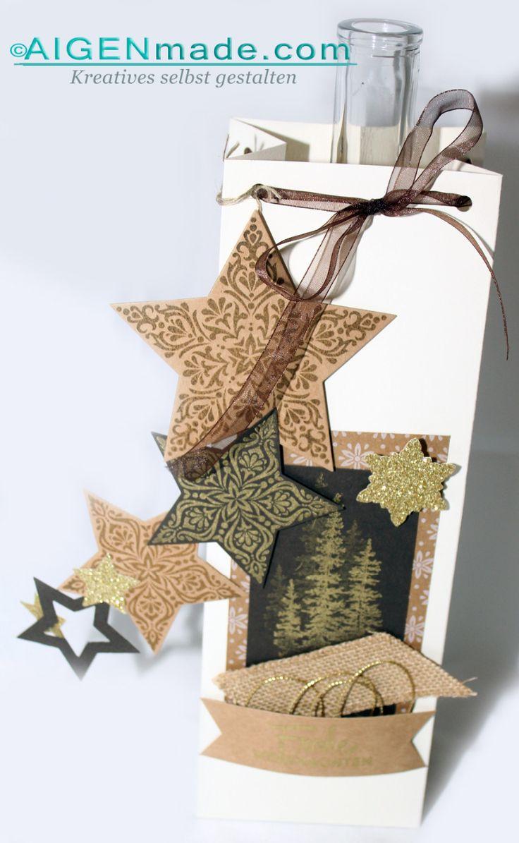 Geschenkstüten | Verpackungen für Flaschen #Stampin'UP! |Aigenmade.com