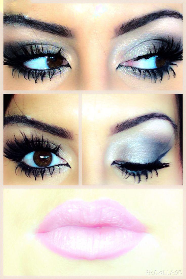 Smokey day look with pink lips <3 xXx