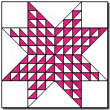 Aunt Rachel's Star block pattern