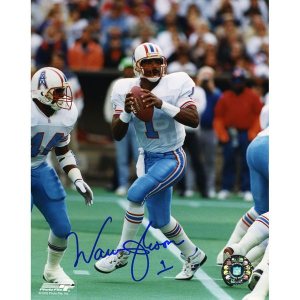 8332b56d ... Jersey Large Warren Moon Houston Oilers Fanatics Authentic Autographed  8 Mitchell Ness ...