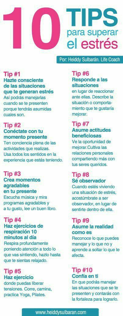 #infografia. Concejos para superar el estrés