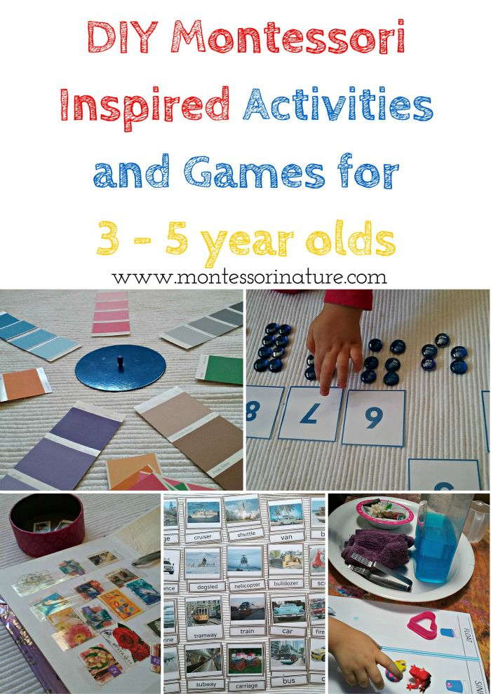 DIY Montessori Inspired Activities and Games for 3 - 5 ...