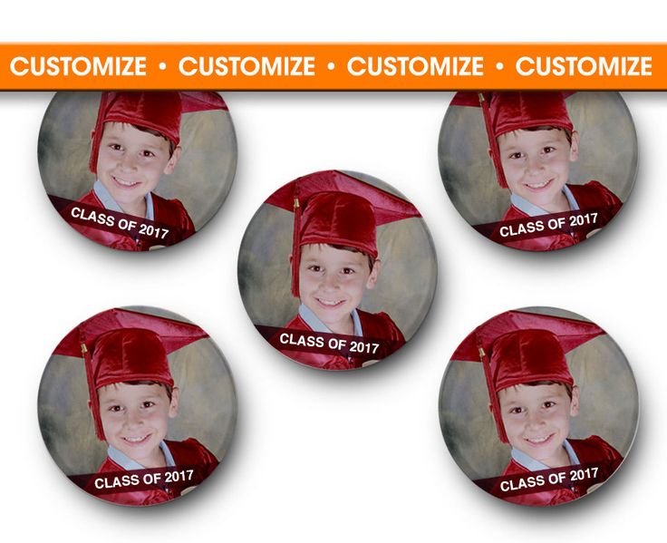 CUSTOMIZABLE Graduation Magnets - Class of, college, graduate, high school, kindergarten, university, school, senior pictures, Senior by TreeSawCrafts on Etsy