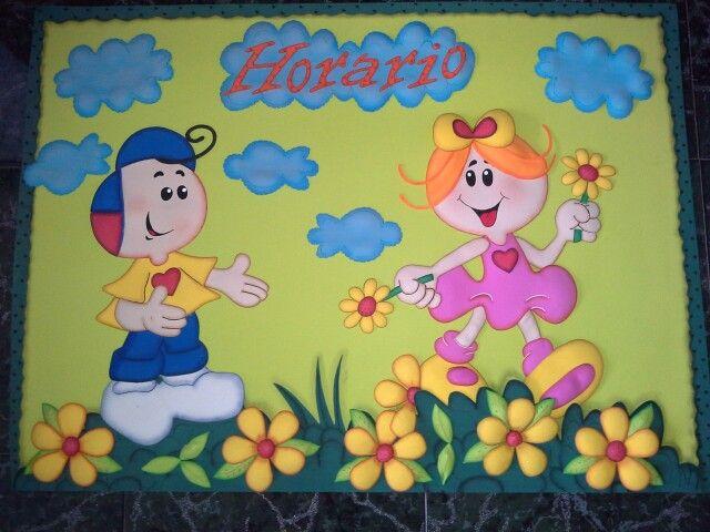 Horario de clase dise os en foamy pinterest - Mural para cumpleanos ...