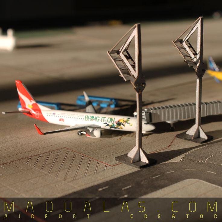 airport diorama scale 1:500 more info: www.maqualas.com