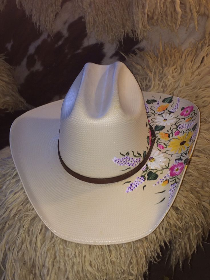Custom painted cowboy hat