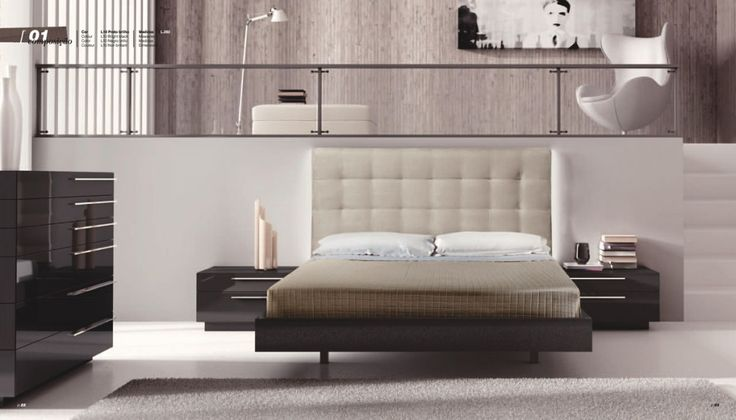 Спальни Abrito Select Кровать с мягким изголовьем, тумба прикроватная (2 шт.), цоколь для тумбы, комод с цоколем