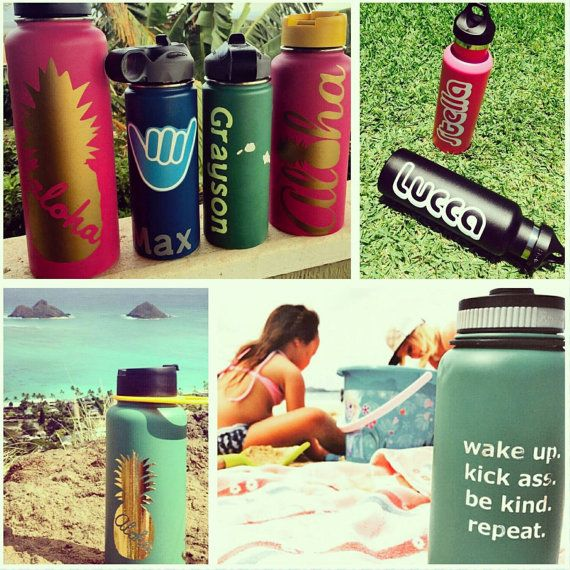 Best HydroFlask Images On Pinterest Personalized Stickers - Custom vinyl decals hawaii