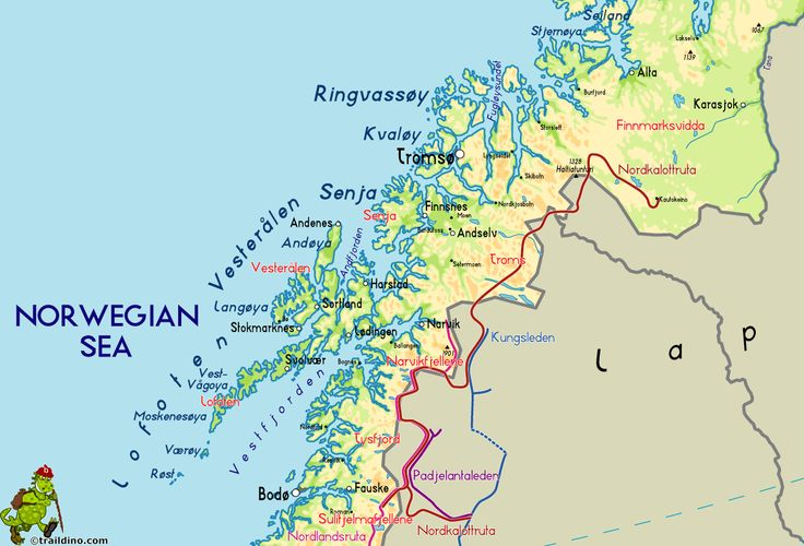 Tromso Norway Map Travel Map Vacations TravelsFindersCom - Norway map hamar