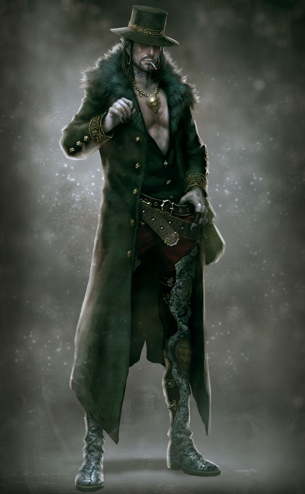 Male character illustration Black Palm member                                                                                                                                                                                 More