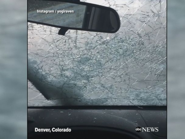 WATCH:  Hail ravages parts of Denver, Colorado Video shows car windshields cracking as a heavy hailstorm ravages Denver, Colorado, including the Colorado Rockies baseball stadium.  ------------------------------ #news #buzzvero #events #lastminute #reuters #cnn #abcnews #bbc #foxnews #localnews #nationalnews #worldnews #новости #newspaper #noticias