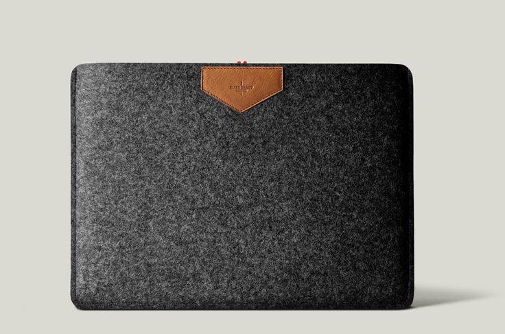 Slim Sleeve MacBook Air by hardgraft: 100% wool. EUR 65. #MacBook_Air_Sleeve #hardgraft