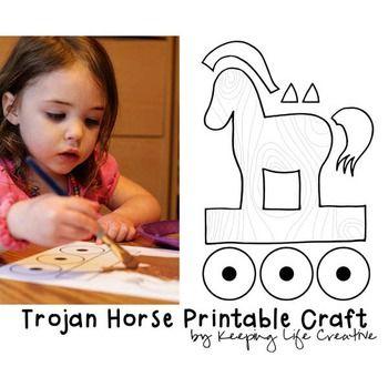 Trojan Horse Printable Craft by Keeping Life Creative
