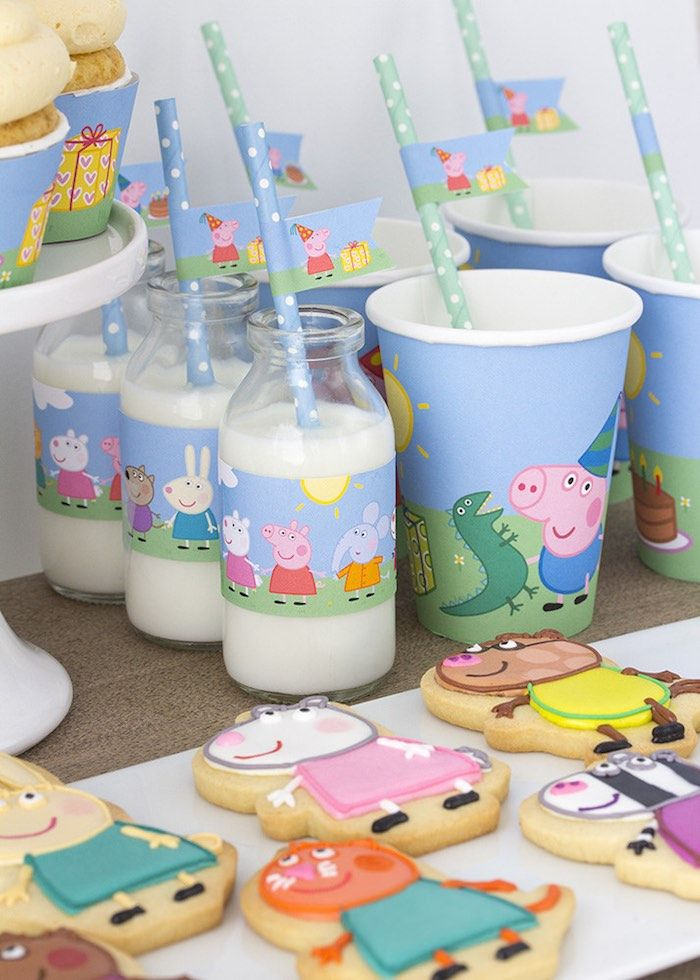 Peppa & George Pig Birthday Party via Kara's Party Ideas | KarasPartyIdeas.com #peppapigparty (10)