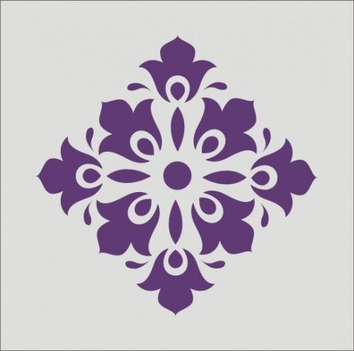 find this pin and more on table stencils wall stencil damask flourish design - Design Stencils For Walls