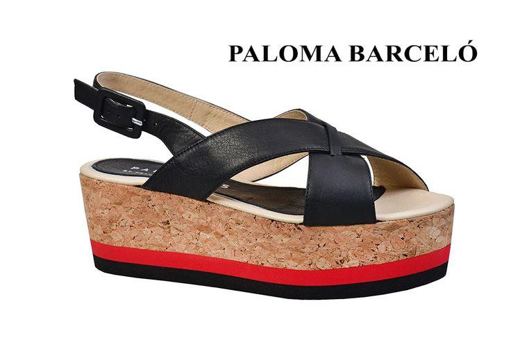 Black, red and cork, in a futuristic design by Paloma Barcelo! Shop your unique pair of style in Thessaloniki in Galleria Di Scarpe.