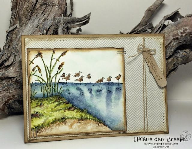 Card uses Wetlands stamp set from Stampin' Up! In Canada, get Stampin' Up! at http://tracyelsom.stampinup.net