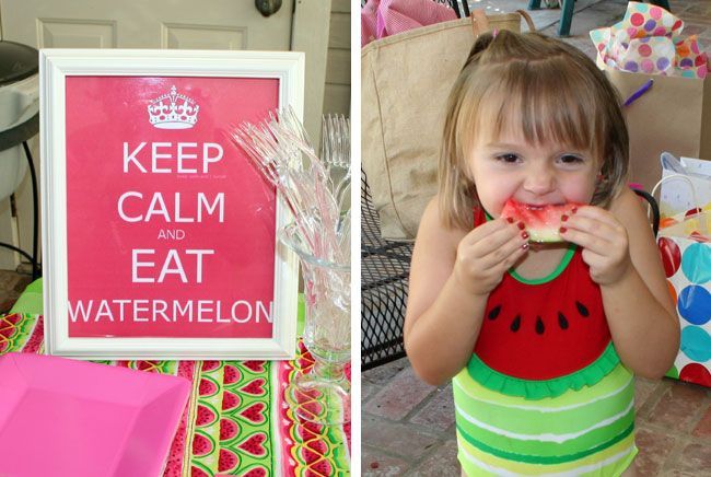 watermelon party ideas -- so perfect for my 3yo