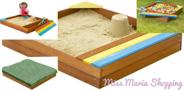 Sand Pit Outdoor Play Wooden Ball Pit Party KidsSummer Play Holiday Cover Safety