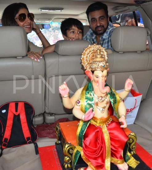 Photos,shilpa shetty,raj kundra,Ganesh Chaturthi,viaan kundra,Shilpa Shetty…