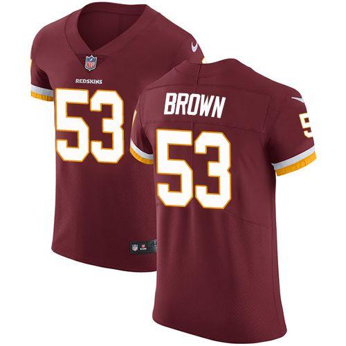 cc923f2529e Nike Redskins #53 Zach Brown Burgundy Red Team Color Men's Stitched NFL  Vapor Untouchable Elite Jersey