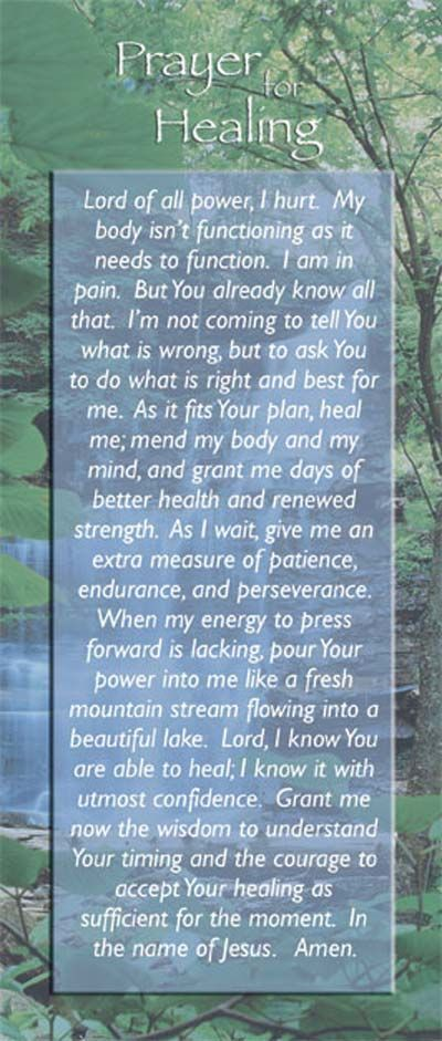 Read these powerful prayers for healing and better health.  From cancer to depression...endometriosis to infertility...