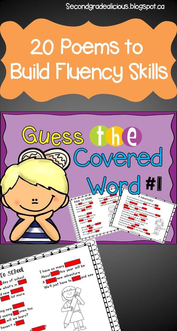 Use Guess the covered word to teach fluency and phonics skills! Great activity for a weekly shared reading experience. This pack comes with 20 original poems. $