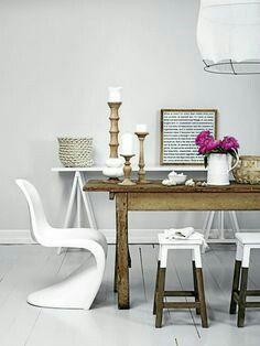 White Panton chair