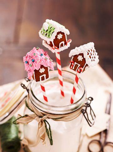 Søde popcakes med peberkagehuse