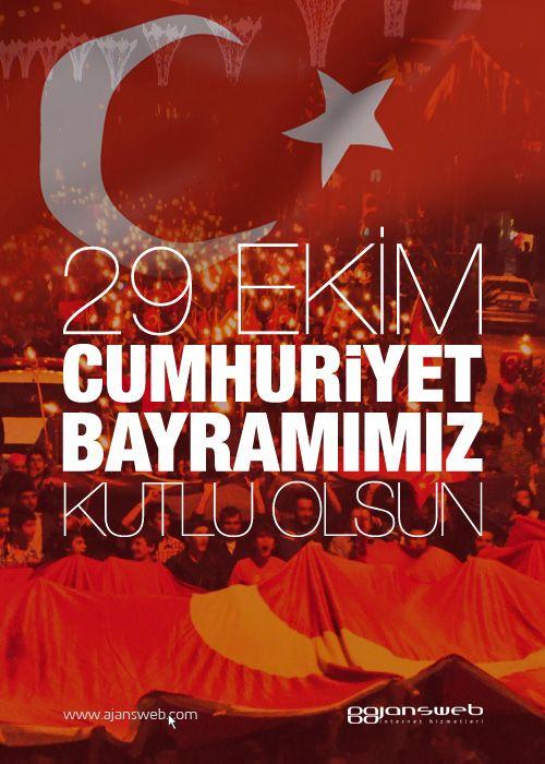 Ajansweb olarak 29 Ekim Cumhuriyet Bayramımızı Kutlarız! #29ekim #mailing #gorsel #afis #poster #kutlama #cumhuriyet #bayram #bayrak
