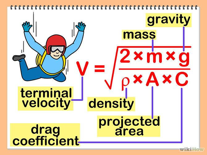 3 Ways to Calculate Terminal Velocity - wikiHow