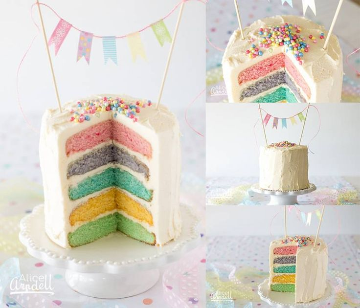 Recipe for Wilton 5 layer rainbow cake
