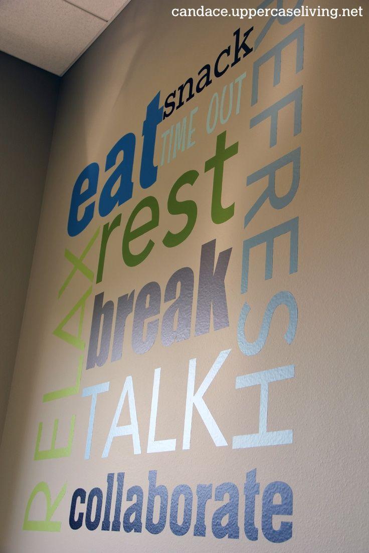 Cool Employee Break Rooms | ... Uppercase Living in an office break room. www.candacebrekke.com