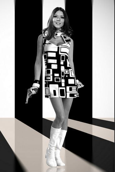 Diana Rigg as Emma Peel in The Avengers, 1960s