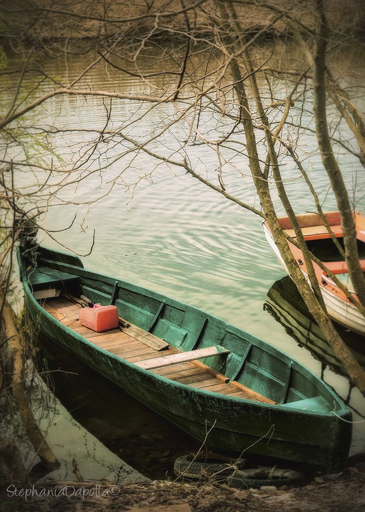Boats, lake of Ioannina, Greece. © Stephania Dapolla